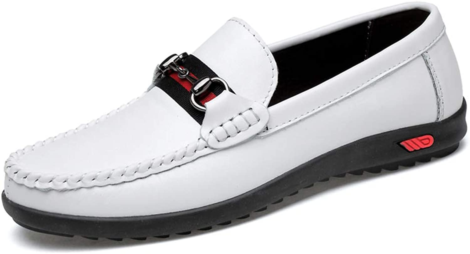 Men's shoes Comfort Flat Loafers Spring Season Fall Comfort Loafers & Slip-Ons Black White,B,45