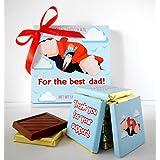 DAチョコレート最高の父のためのかわいいキャンディチョコレートギフトセット5x5in 1箱。