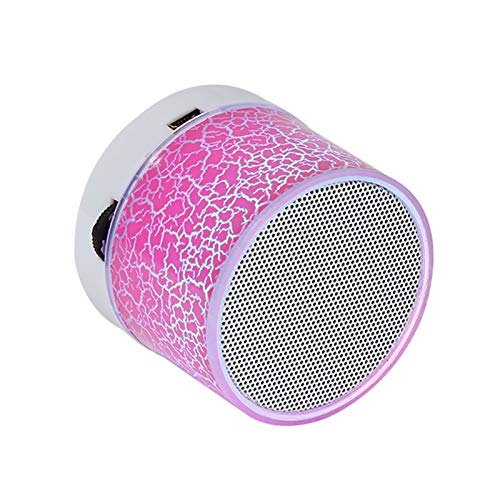 N/A El deslumbramiento Nueva grieta Bluetooth Altavoz del Coche LED Multicolor Subwoofer U Disco Tarjeta de Música de Audio micrófono Incorporado de Altavoces portátiles (Color : A)