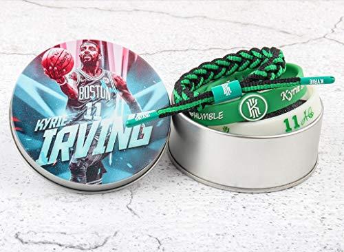 YWYU 3 PC Uncle Drew # 11 Basketball-Armband Kyrie Irving Signature Luminous Silikon Geflochtenes Armband (mit Metallgehäuse) - CSB-0369