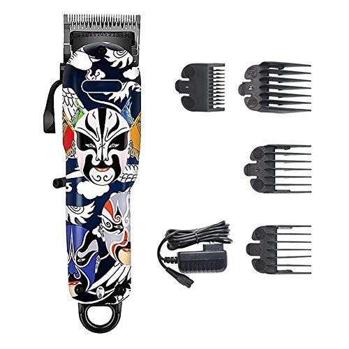 FEENGG Haarschneidemaschine (selbstschärfende, 4 Aufsteckkämme + Präzisions längeneinstellung, Netz-/Akkubetrieb, Lithium,) Haarschneider, Haartrimmer