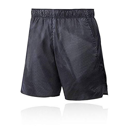 Mizuno 7.5 2in1 Short Pantalón Corto, Hombre, Black, M