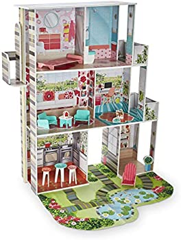 Imaginarium Garden Dollhouse with 14 Colorful Play Accessories