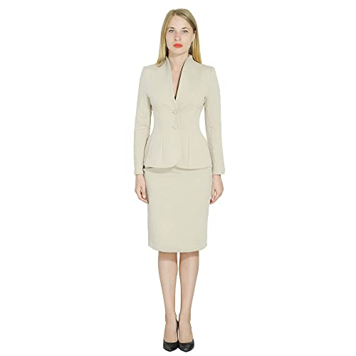 9cab1633c Marycrafts Women's Formal Office Business Work Jacket Skirt Suit Set
