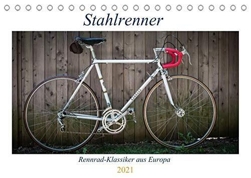 Stahlrenner - Rennrad-Klassiker aus Europa (Tischkalender 2021 DIN A5 quer): Faszinierende Rennräder mit Stahlrahmen aus vier Jahrzehnten (Monatskalender, 14 Seiten ) (CALVENDO Sport)
