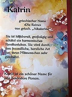 Unbekannt Tarjeta de nombre con nombre Katrin.