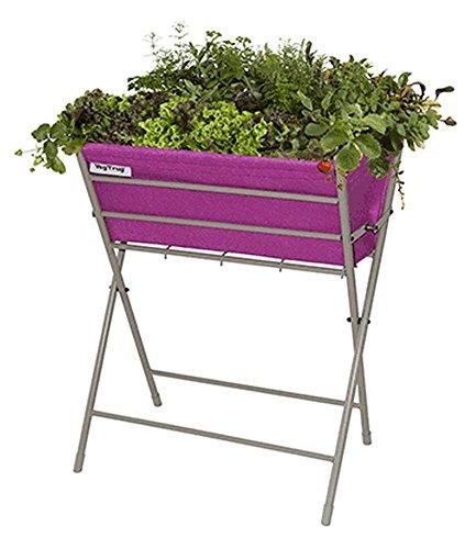 "VEGTRUG \""Hochbeet\"" Pink, Pflanzbeet, Kräuterbeet, Gemüsebeet 1 Stück für Balkon & Terrasse"