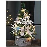 xiaokeai Bonsai Artificial Pequeño Mini Artificial de Mesa de Navidad árbol de Navidad Adornos y decoración Viene con un Arco, Copo de Nieve Adornos Plantas Artificiales (Color : C)