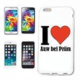 Reifen-Markt Hard Cover - Funda para teléfono móvil Compatible con Apple iPhone 5C I Love Auw bei Prüm