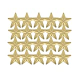 Awards and Gifts R Us 7/8 Inch Large Star Chenille Pin Gold - Package of 20, Poly Bagged