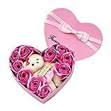 Ljourney Seifenblume Mit Kiste Rot Rose Blumen Handgemachte Seife Rose Mit Box Seifeblume Rot Rosa...