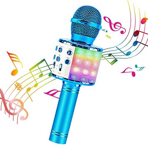 Karaoke Microphone, ShinePick 4 in 1 Wireless Bluetooth Microphone, Dancing...