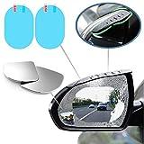 Byhoo Lot de 6 accessoires de miroirs à angle mort Films de protection contre la pluie, pare-soleil, rétroviseurs latéraux - Autocollants imperméables pour rétroviseurs de voiture en fibre de carbone