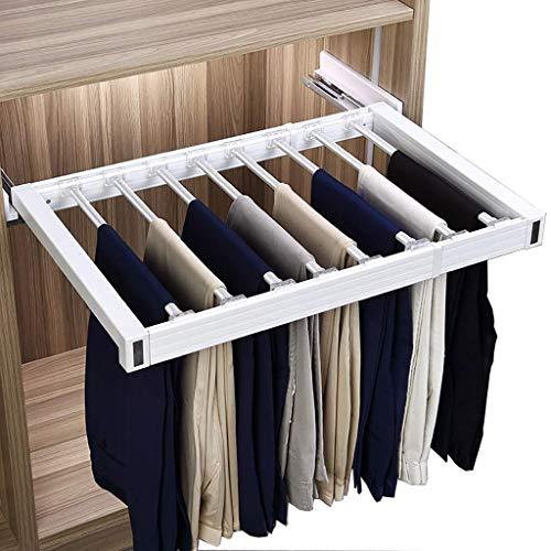 Schrank herausziehen Hosenständer, Hose Schubladenhalter mit Damping-Schiene, Breite verstellbar Schal Jeans Aufhänger for Dept (Size : (4560)×47cm)