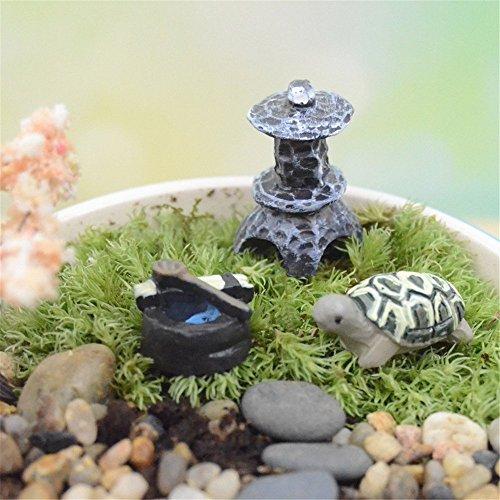 COOLTOP Miniature Tortoise Set Fairy Garden Dollhouse Miniature Plant Pots Bonsai Craft Micro Landscape DIY Decor Set