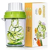 Adoric Spiralschneider 5 in 1 2020 Gemüse Spiralschneider, Gemüsehobel für Karotte, Gurke, Kartoffel,Kürbis, Zucchini, Zwiebel, Gemüsespaghetti