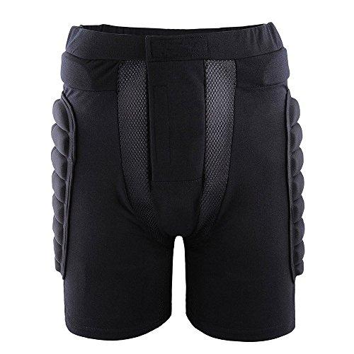 Xtextile 3D Unisex Protective Hip Snowboard Skating Resistance Compression Pants Black