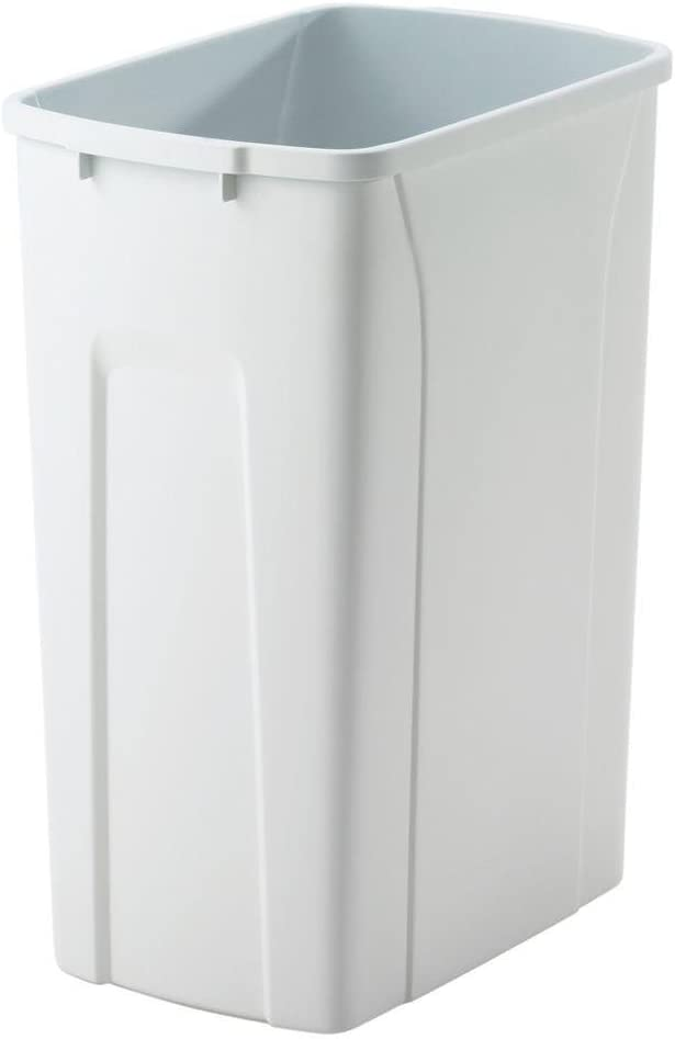 Silver, 30 L Litre 30 Litre Rubbish Waste Bins Kitchen Home Office Dustbin Flap Lid Recycling Indoor Storage Bins Trash Can Plastic Bullet Bin 50