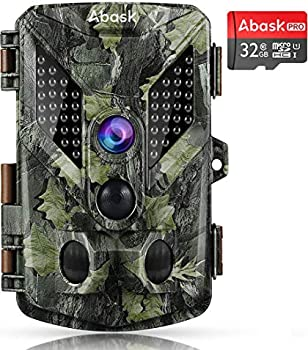 Abask Trail Game 16MP 1080P Wildlife Hunting Camera with 32G Card