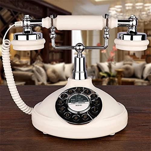 Teléfono Antiguo Teléfono Europeo Estilo Decoración Teléfono Antiguo, Hogar de Línea, Teléfono fijo de Oficina, Botón Anticistido Retro One-Tecnología Teléfono de Relación, Teléfono de oficina en casa