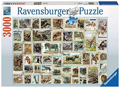 Ravensburger 170791 Puzzel Dierenpostzegels - Legpuzzel - 3000 Stukjes