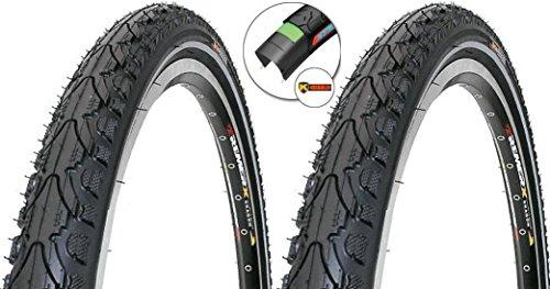 KENDA 2 x Reifen Fahrradreifen Pannensicher 26 Zoll 50-559 K-Shield mit Reflexstreifen 26 x 1.95