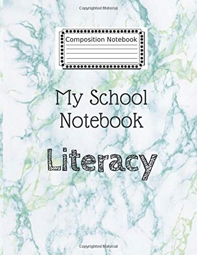 """College Ruled and 120 Lined pages notebook,measuring 8.5"""" x 11"""" in size(Literacy), White green Marble cover.: My school notebook 22222 ,cute Notebook ... notebook / SketchBook/ Literacy"""