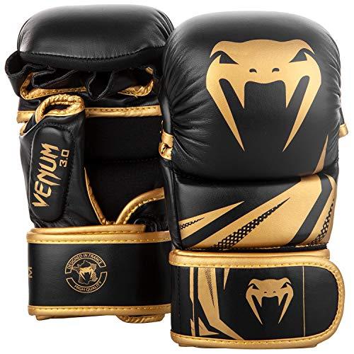 Venum Challenger 3.0 MMA Sparring Handschuhe, Schwarz/Gold, M