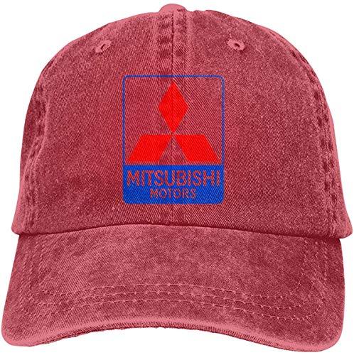 NAnihidf Impresión Personalizada Sombreros Transpirables Mitsubishi Vehicle Logo Moda Gorra de béisbol