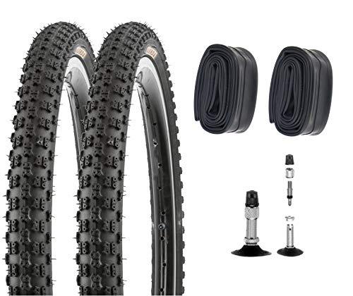 P4B Neumáticos para bicicleta de 20 pulgadas 57-406 (20 x 2.125) para bicicleta de montaña y BMX, en negro (B) 2 neumáticos con cámaras DV.