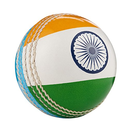 Hunts County Cricket-Ball mit internationaler Flagge, India
