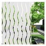 Umi.Ventana Vinilo Adhesivo Ondulada Rayas Decoracion Marina Película Estática Ventana para Hogar Decoración, Protección de la Intimidad (90 x 400cm)