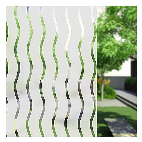 UMI.3D Fensterfolie Sichtschutz Folie Fenster Selbstklebend für Badezimmer Schlafzimmer Küche (Welle) (90 x 400 cm)