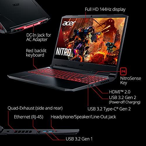 Acer Nitro 5 AN515-55-53E5 Gaming Laptop | Intel Core i5-10300H | NVIDIA GeForce RTX 3050 Laptop GPU | 15.6