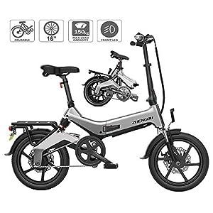 TANCEQI E-Bike Klapprad/Faltrad, Elektrofahrrad, 16 Zoll E-Bike, 36V 250W Motor, 15-20 Meilen Pedelpraktisches Elektro Klappfahrrad, Perfekt Für Die Stadt