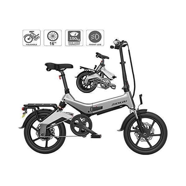 51I1uKAmz1L - TANCEQI E-Bike Klapprad/Faltrad, Elektrofahrrad, 16 Zoll E-Bike, 36V 250W Motor, 15-20 Meilen Pedelpraktisches Elektro Klappfahrrad, Perfekt Für Die Stadt