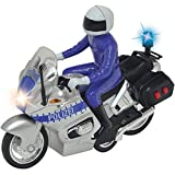 Unbekannt Polizei Motorrad mit Licht und Sound, Friktionsmotor, 15 cm inkl. Figur: Spielzeug Police...
