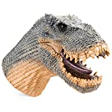 Gemini&Genius King Kong Tyrannosaurus Dinosaur Hand Puppet with Audio Support for Kids Soft Rubber Realistic Action Figure Role Play Toys (Tarbosaurus)