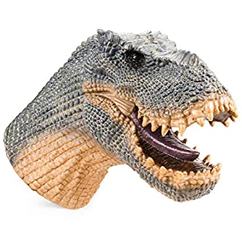 Gemini&Genius Vastatosaurus Rex Tarbosaurus Dinosaur Hand Puppet with Audio Support Realistic Action Figure Role Play Interactive Game Pretend Play Toy Stage Prop Idea Gift for Christmas and New Year