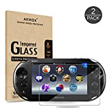(Pack of 2) Screen Protector For PS Vita 2000, Akwox Premium HD Clear 9H Tempered Glass Screen Protective Film...