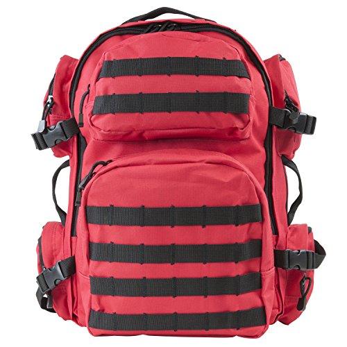 NcSTAR VISM CBR2911 Tactical Backpack, Red with Black Trim