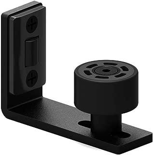 CCJH Upgrade Sliding Barn Door Bottom Adjustable Floor Guide Wall Mount Stay Roller Guides Black 1PCS
