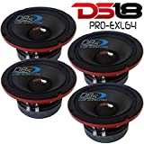 4) DS18 PRO-EXL64 Competition 6.5″ Midrange Speakers 2400W Max 4 Ohm (Set of 4) FAST SHIPPING!!