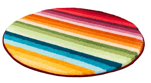 Meusch 2867148518 Badteppich Funky, 80 cm rund, multicolor