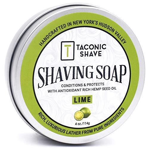 Taconic Shave Friseurladen Qualität Lime Rasierseife mit Antioxidans-reiche Hanfsamenöl