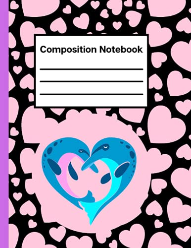 Porpoises Composition Notebook: Cute Porpoises Wide Ruled Paper Composition Notebook Journal, Exercise Porpoises Book Lined Workbook for Teens Kids ... Notes, Thanksgiving Composition Notebooks
