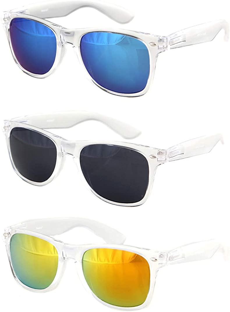 Shaderz Sunglasses Classic Clear Frame Retro 80's It is very popular Popular brand - o Combo Rave
