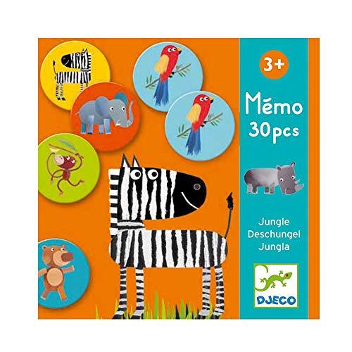Djeco- Juegos de acción y reflejosJuegos educativosDJECOEducativos Memo Jungla, Multicolor (DJ08159)