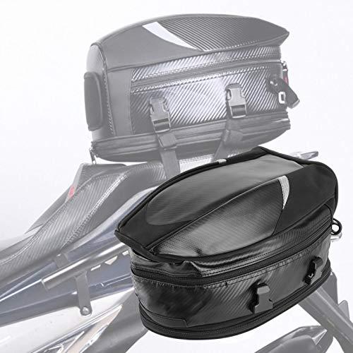 Bolsa de moto, Bolsa de sillín de cola de motocicleta Paquete de almacenamiento trasero Impermeable para equipaje de casco 18.5L