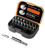 TACKLIFE Damaged Screw Extractor kit,18pcs Screw Extractor,Remover Set by Easy Out, Magnetic Extension Bit Holder and Socket Adapter for Damaged Bolts or Screws 2-12mm,Hardness 62HRC-DSE01